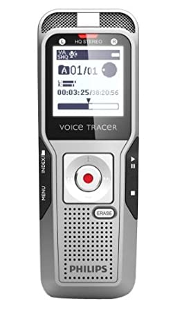 Dictaphone et Magnétophone PHILIPS DVT3500 GRIS 2GO