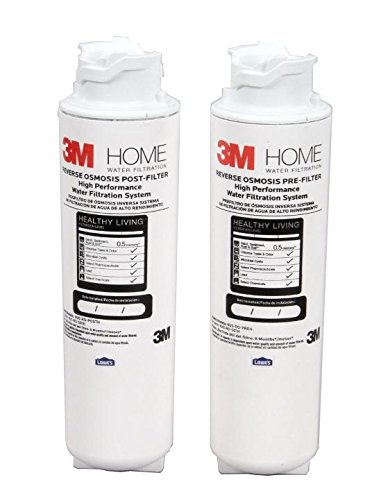 3M 4US-RO-F02H Quick Change RO Under Sink Pre/Post Filter...
