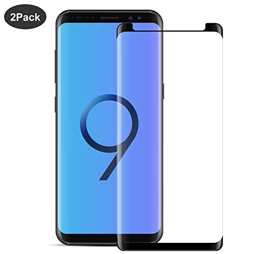 [2-Pack] Galaxy S9 Plus Screen Protector,WZS [9H Hardness][Anti-Fingerprint][Ultra-Clear][Bubble Free] Tempered Glass Screen Protector Compatible with Samsung Galaxy S9 Plus
