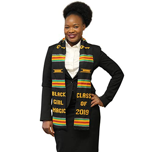DashikiMe Class of 2019 Kente Graduation Stole - Black Girl -