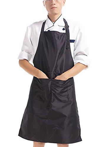 Delantal de cocina adultos poliéster delantal con cuello ajustable Cinturón y para hornear jardinería restaurante barbacoa...