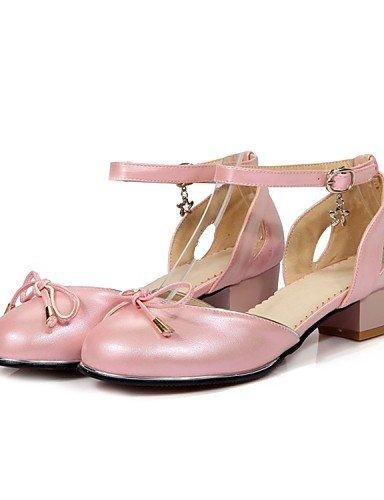 LFNLYX Zapatos de mujer-Tacón Plano-Punta Abierta / Comfort / Innovador / Náuticos / Punta Redonda / Botas a la Moda / Zapatos y Bolsos a Juego- beige
