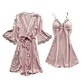 Copelsie Women Fashion Sexy Sleepwear Lingerie Lace Temptation Belt Underwear Nightdress Babydoll Nightwear for Ladies