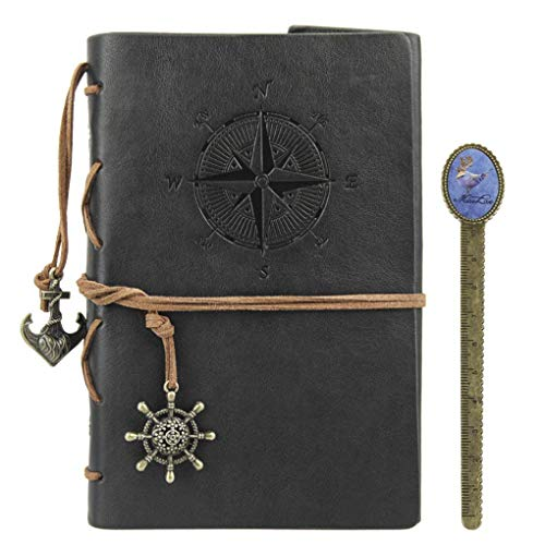 Leather Notebook Journal Refillable Travel Journal with a Bookmark Hand-Crafted Genuine Leather Perfect Gift for Men or Women, Writing, Poets, Travelers, as a -