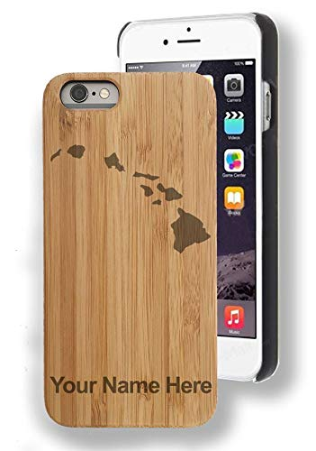 (Bamboo Case for iPhone 7/7 Plus, Hawaiian islands, Personalized Engraving)