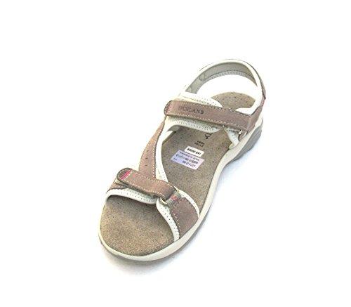 GRUNLAND - Sandalias de vestir para mujer Gris visón