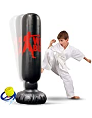 Punching Bags for Kids and Adults - Inflatable Punching Bag for Boxing Practice and Energy Relief – Strong and Durable Punching Bag with Stand – Immediate Bounce-Back – 65-inch Tall