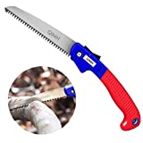 Folding Pruning Hand Saws with blade and rugged grip handle,QIMH Hand Saw for Pruning Trees, Trimming Branches, Camping, Clearing Forest Trails,Hunting & Cutting Wood (7 Inch)