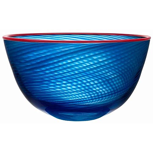 - Decorative Red Rim Bowl Medium Crafted by Kosta BODA Sweden -