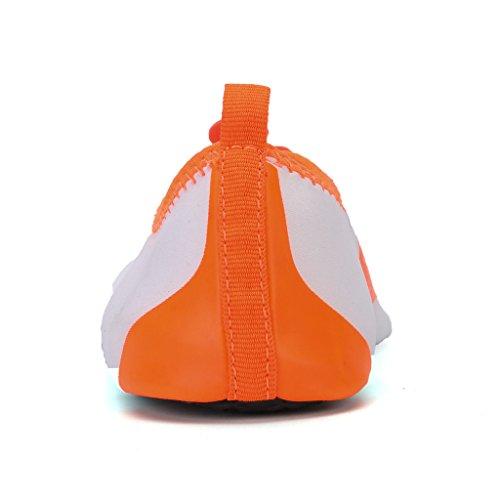 Unisex Aquaschuhe Surfschuhe Badeschuhe Weich Wassersport Schuhe Orange