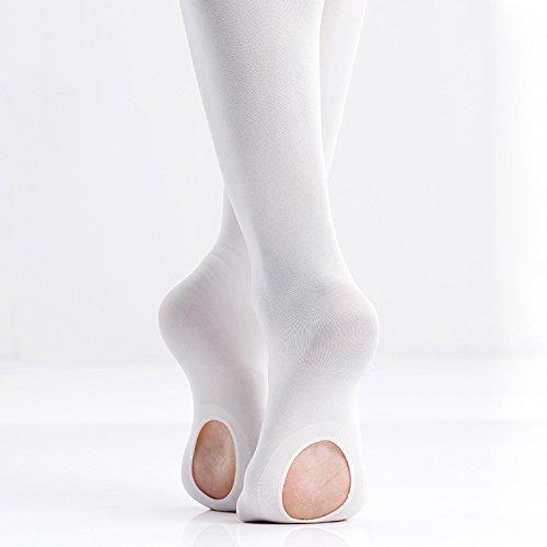 Ballerine da Ballo Convertibili da Danza per Ragazze SINOPHANT 2 Pairs Calzamaglia da Danza Classica Ultra Morbida con Fori