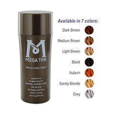 Megathik Hair Building Fibers (27 Grams) Medium Brown Color by Megathik