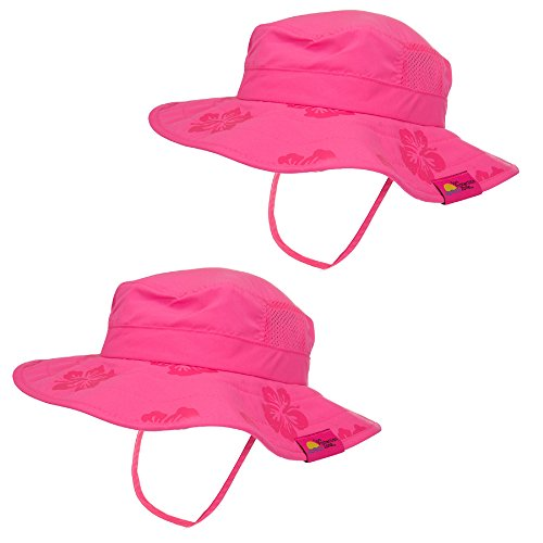 2pk-kids-safari-hat-sun-protective-zone-upf-50-child-block-uv-rays-shade-938151-pink-girls