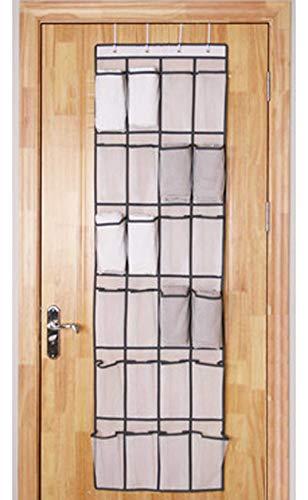 LeBeila Over The Door Shoe Organizer - 24 Large Pockets Fabric Closet Hanging Storage Shoes Hanger Heavy Duty Holder Door Back Accessories Racks 4 Over-The-Door Steel Hooks (24 Pockets, - Four Set Pocket Hanger