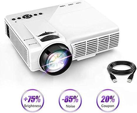 Mini Proyector 1080P Y 170 Pantalla Apoyado 3600 Lux Portátil ...