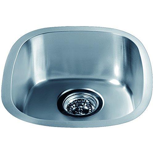 Dawn 3237.0 Undermount Single Bowl Bar Sink, Polished Satin by Dawn
