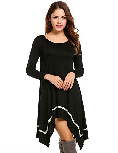 long black handkerchief dress - 9