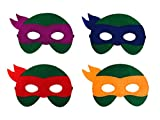 teenage mutant ninja turtles mask - 12 Pieces Superheroes Party Character Felt Fun Cosplay Masks Headwear Spiderman Superman Boys and Girls Theme (TMNT)