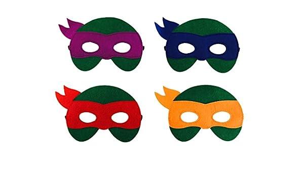 JDProvisions 12 máscaras de Fieltro para Fiesta de ...