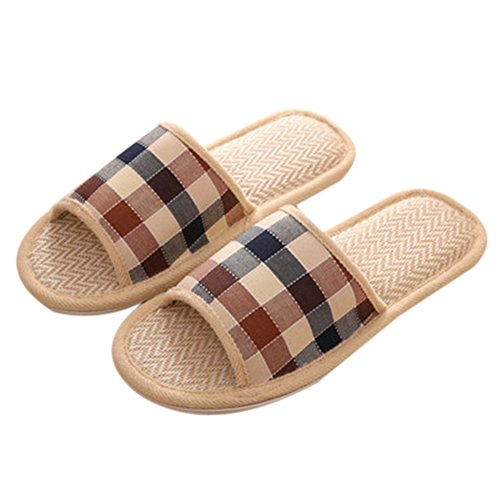 Smelly Light Spring Men's Lady Linen men 1 Anti Summer coffee TELLW Autumn Indoor Breathable Slippers 4CIxwHY