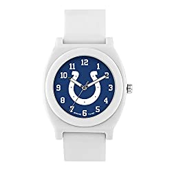 NFL Indianapolis Colts Mens Fan Series Wrist Watch, White, One Size