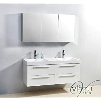 Virtu USA JDPL Inch Finley Double Sink Bathroom Vanity - 54 vanity double sink