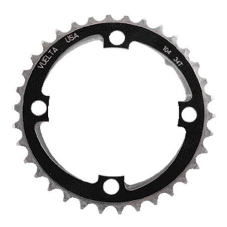 Vuelta se Flat 110mm/BCD 42T Chainring, Black