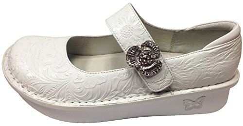 Alegria Women's Paloma Exclusive Professional Shoe (39 M EU/9-9.5 B(M) US, White Tooled)