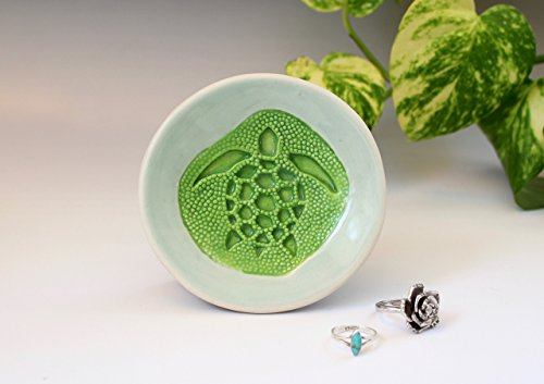 Green-Sea-Turtle-Trinket-Dish-Ring-Holder-Coffee-Spoon-Rest-Gift