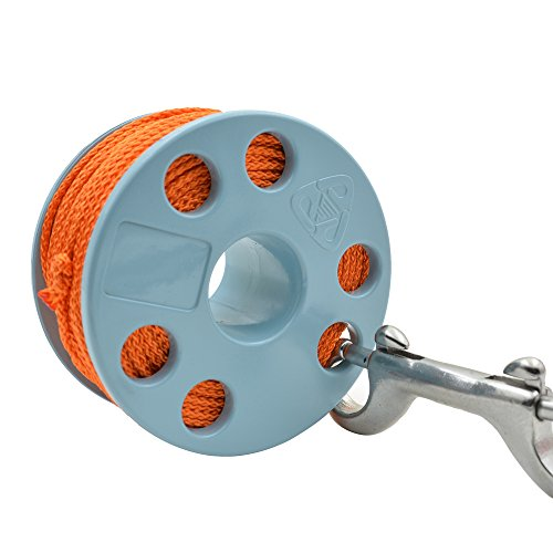 EZDIVE Finger Spool with Marine Grade Stainless Steel Double Ended Snap 6 Colors