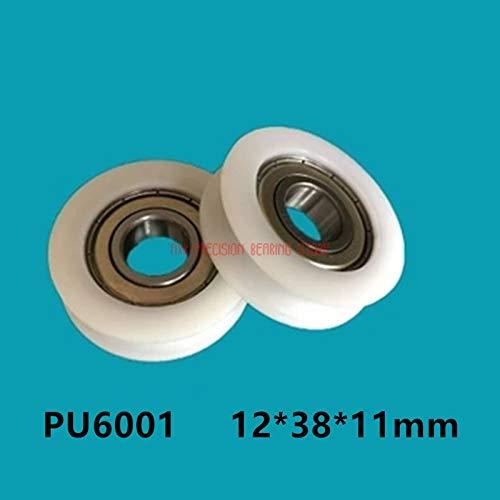 Fevas 2019 Promotion Hot Sale 6001 Bearing Pulley U Type Rubber Wheel Groove Inner Diameter 123811 Nylon Steel Concave - Concave Column