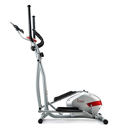 Sunny Health & Fitness Elliptical Trainer with Tablet Holder, Grey