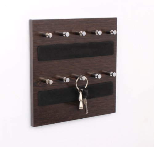 Bluewud Skywood Wall Mounted Key Chain Hanging Board/Box (Wenge, 10 Keys)