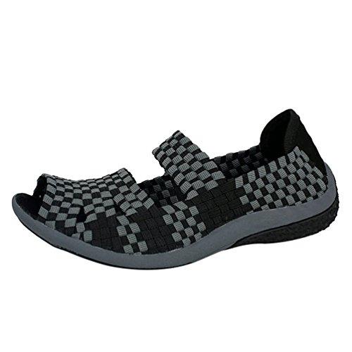de Sandales Respirant Dexinx Amoureux Mode Attrayant Gris Plage Classique noir Casual Chaussures Été vAUwqIxUBn