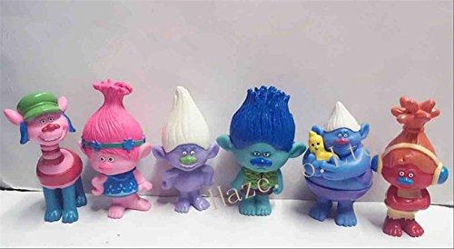Movie Trolls Poppy Branch PVC Figure Toys Doll Toy Xmas Gifts 6pcs/set (Chavo Del Ocho Dvd Set)