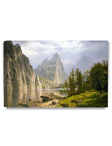 DecorArts -Merced River, Yosemite Valley, Albert Bierstadt Classic Art Reproductions. Giclee Prints Wall Art for Home Decor - Valley Mercedes