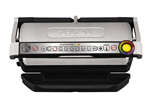 - T-fal GC722D53 1800W OptiGrill XL Stainless Steel Large Indoor Electric Grill with Removable and Dishwasher Safe Plates, Silver