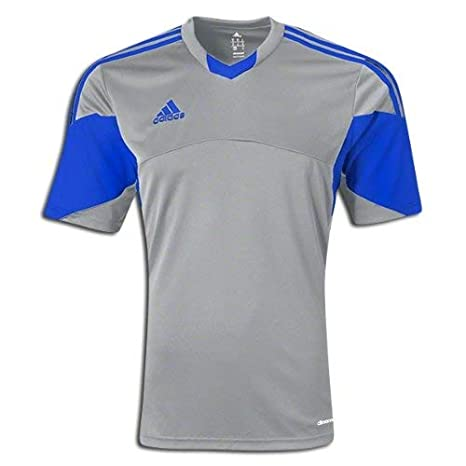 6fa87b7b2 Amazon.com   adidas Soccer Uniform Jersey  adidas Rush Tiro 13 Replica  Soccer Jersey Silver Royal M   Everything Else