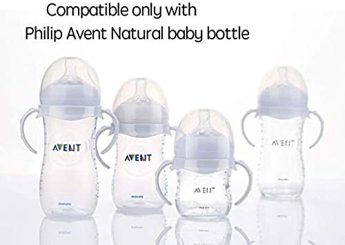 2 Count Compatible Baby Bottle Handles for Philips Avent Natural Baby Feeding Bottles