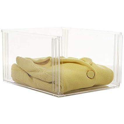 0e3e0c9ae086 Amazon.com: Crystal Clear Clothing Storage Bin: Home & Kitchen