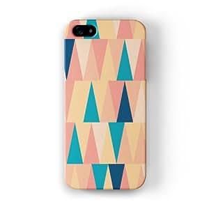 Tall Colorful Geometric Triangles Funda Completa de Alta Calidad con Impresión 3D, Snap-On, Diseño Negro Formato Duro parar Apple® iPhone 5 / 5s de UltraCases