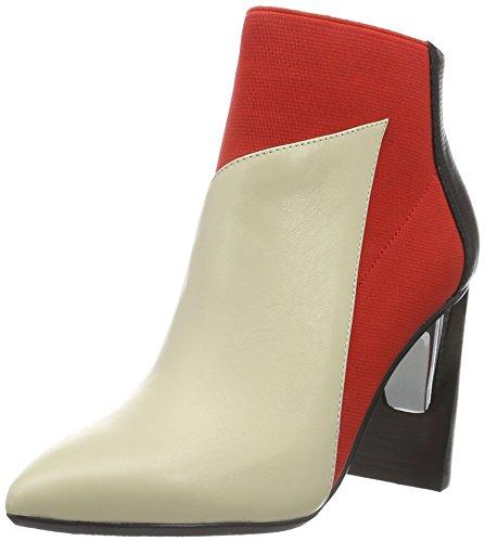 Unito Nude Ladies Zinc Hi Short Boots Beige (mist Hot Red)