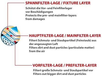 Dustwave® - 40 sacchetti per aspirapolvere (confezione super) adatti per Ufesa - AT 4215 / AT4215 – Made in Germany + con micro filtro