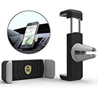 Tarkan [Rubberized] Air Vent Universal Car Mount Holder for All Mobile Phones [4 Inch to 6.3 Inch]