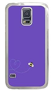 Samsung Galaxy S5 Purple Bee PC Custom Samsung Galaxy S5 Case Cover Transparent