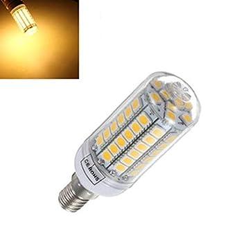 Global 2X e14 5.5W 828lm blanco caliente 69smd 5050 LED de maíz bombilla 220v: Amazon.es: Iluminación
