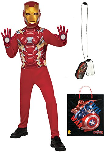 [Rubie's Costume Captain America: Civil War Iron Man Costume & Accessories Bundle, Multicolor, Large] (Iron Man 3 Costumes Kids)
