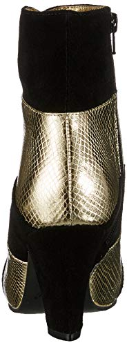 80 Ramona black gold Para Elsa Lola Negro Botines Mujer 40d8w0qY