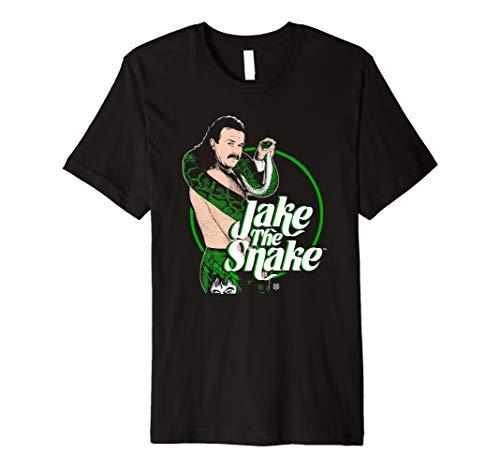 WWE Jake The Snake Roberts with Logo Premium T-Shirt