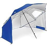 Sport-Brella Portable All-Weather and Sun Umbrella, 8-Foot Canopy, Blue